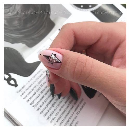 ногти на новый год 2021